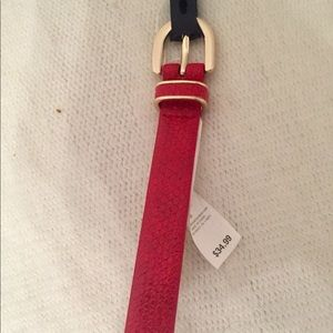 NWT Red faux snake Belt Banana Republic